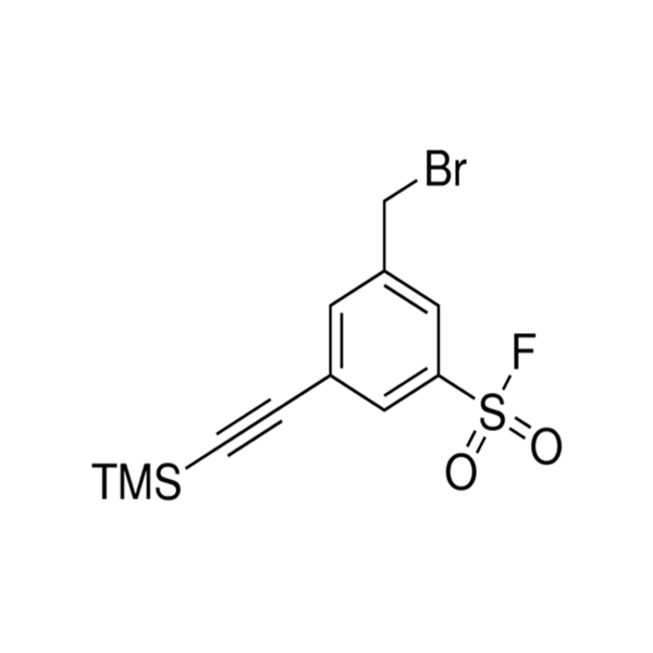 3-(Bromomethyl)-5-((trimethylsilyl)ethynyl)benzenesulfonyl fluoride.png