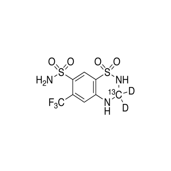 Hydroflumethiazide -13CD2.png