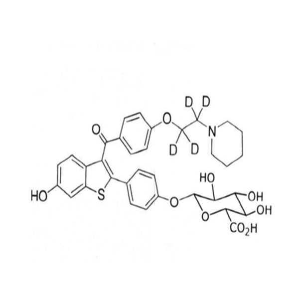 Raloxifene D4- 4` Glucuronide.png